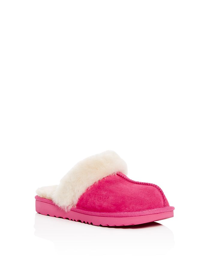 1793b0073ef UGG® - Girls  Cozy II Suede   Shearling Slippers - Little ...