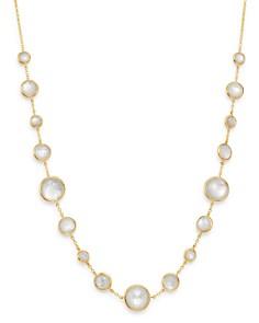 "IPPOLITA - 18K Yellow Gold Lollipop Lollitini Mother-of-Pearl Doublet Adjustable Short Necklace, 18"""