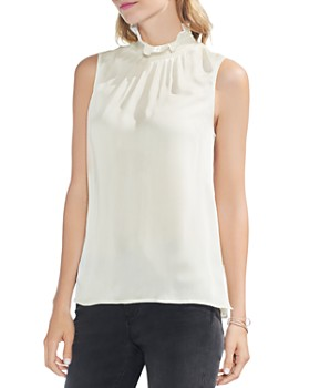 VINCE CAMUTO - Smocked Neck Top