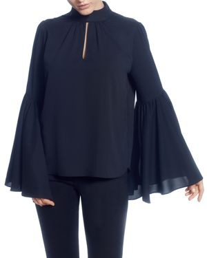 T Tahari Bell-Sleeve Blouse