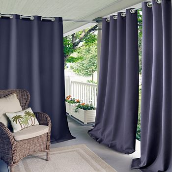 """Elrene Home Fashions - Connor Solid Indoor/Outdoor Curtain Panel, 52"""" x 108"""""""