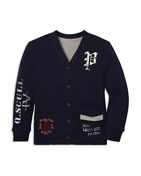 Ralph Lauren - Boys' Fleece Collegiate Reversible Cardigan - Big Kid
