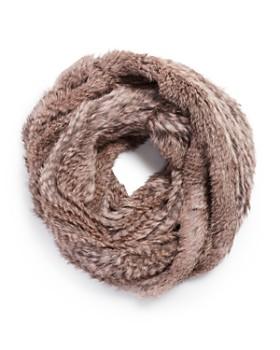 Jocelyn - Knit Rabbit Fur Infinity Scarf