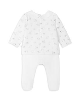 Jacadi - Girls' Quilted Kitten-Print Top & Footie Pants Set - Baby