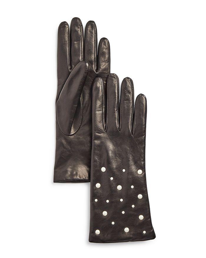 Portolano - Embellished Leather Gloves