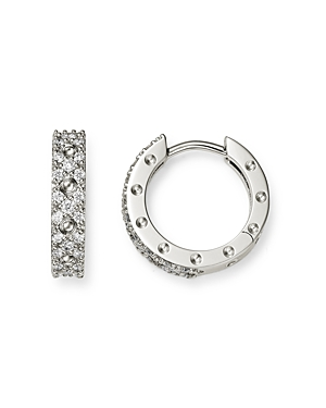 Roberto Coin 18K White Gold Symphony Pois Moi Diamond Small Hoop Earrings