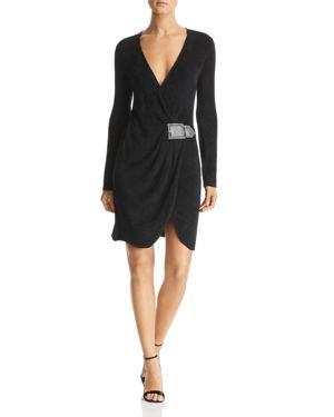 Emporio Armani Draped Faux-Belt Dress