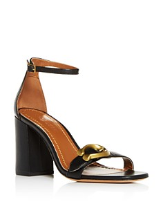 COACH - Women's Maya Leather Ankle Strap Block-Heel Sandals
