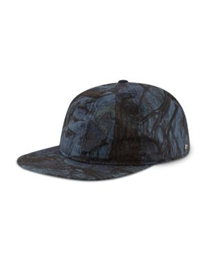 NEW ERA 9Twenty Tonal Camo Flat Brim Hat - Blue in Navy