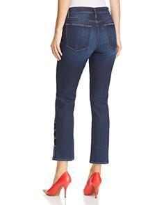 FRAME - Le High Straight-Leg Snap-Hem Jeans in Meribel