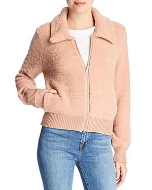 Marled x Olivia Culpo Textured Knit Bomber Jacket