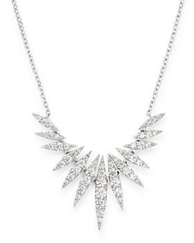 Bloomingdale's - Diamond Statement Necklace in 14K White Gold, 0.65 ct. t.w. - 100% Exclusive