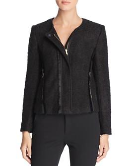 Donna Karan - Bouclé Moto Jacket