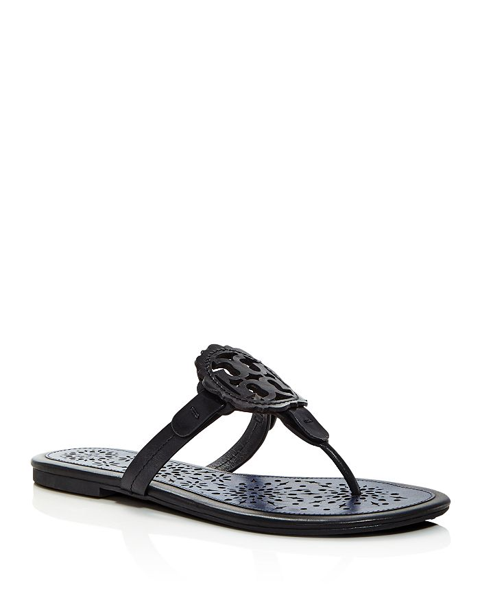 Tory Burch - Women's Miller Scallop Leather Thong Sandals