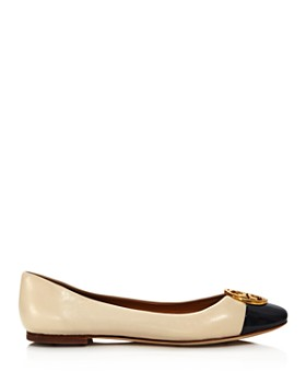 Tory Burch - Women's Chelsea Cap Toe Leather Ballet Flats