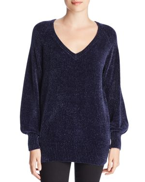 Three Dots Chenille Balloon-Sleeve Sweater