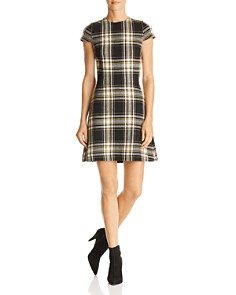 Alice and Olivia - Malin Plaid A-Line Dress