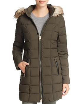 fcd6ea3c0 Laundry by Shelli Segal - Faux Fur Trim Hooded Puffer Coat ...