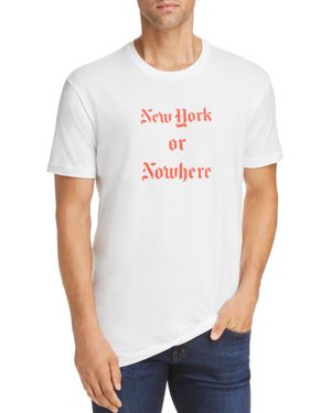 KNOWLITA Ny Or Nowhere Graphic Tee in White/Red