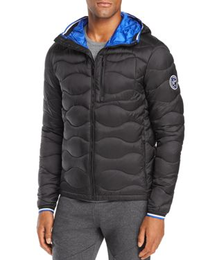 SUPERDRY Wave-Quilted Puffer Jacket in Black