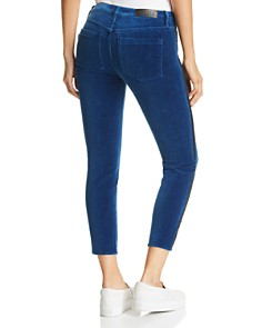 Parker Smith - Twisted Tuxedo Cropped Velvet Jeans