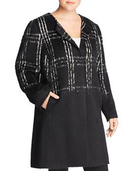 Eileen Fisher Plus - Plaid Color-Block Coat