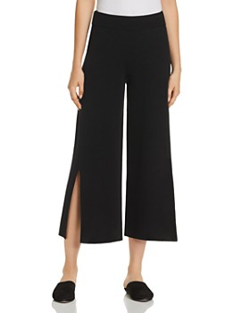 Eileen Fisher - Slit Wide-Leg Crop Pants - 100% Exclusive
