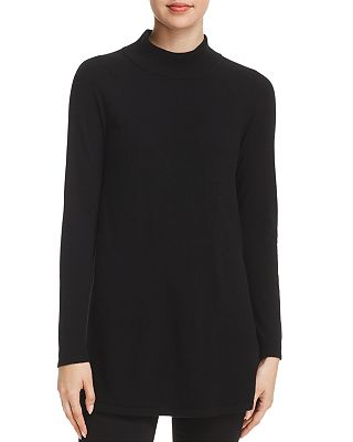 Cashmere Mock-Neck Tunic Sweater - 100% Exclusive