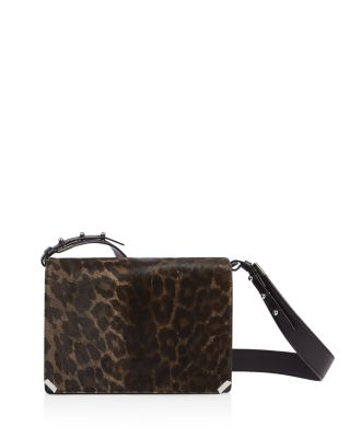 Vincent Medium Leopard Print Calf Hair Shoulder Bag by Allsaints
