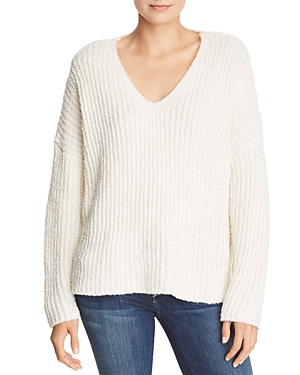 Sadie & Sage Chunky Ribbed Knit V-Neck Sweater