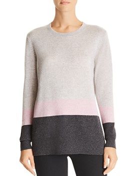 C by Bloomingdale's - Color-Block Cashmere Sweater - 100% Exclusive