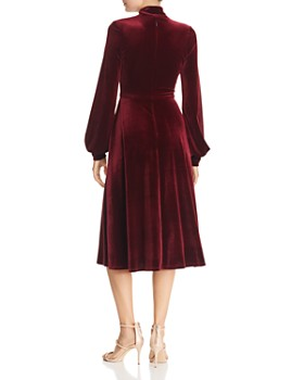 Black Halo - Ruby Tie-Neck Velvet Dress