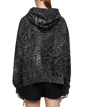 ALLSAINTS - Lo Paw Leopard Print Hooded Sweatshirt