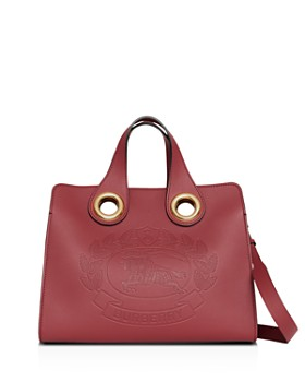 Burberry - Leather Crest Grommet Detail Tote