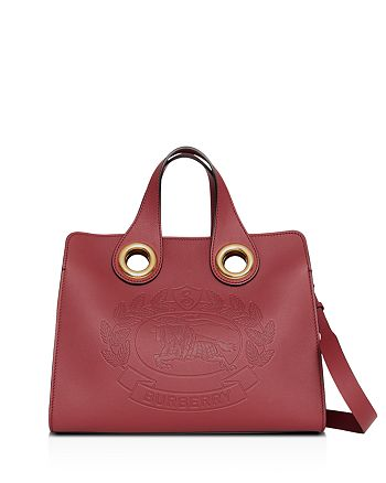 eb296f8c4f4a Burberry - Leather Crest Grommet Detail Tote