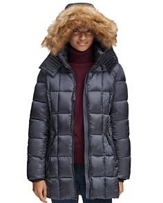 Marc New York - Riverdale Faux Fur Trim Hooded Puffer Coat