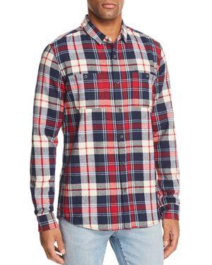 BANKS Vanish Plaid Regular Fit Shirt in Vintage Red