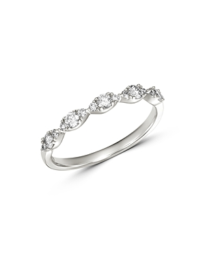 Bloomingdale\\\'s Diamond Stacking Ring in 14K White Gold, 0.33 ct. t.w. - 100% Exclusive-Jewelry & Accessories