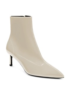Via Spiga - Women's Baronne Pointed Toe Kitten Heel Booties