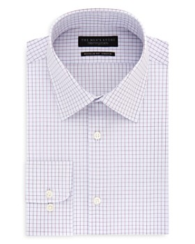 The Men's Store at Bloomingdale's - Tattersall-Check Regular Fit Dress Shirt - 100% Exclusive