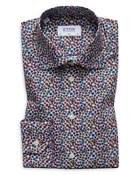 Eton - Floral Print Slim Fit Dress Shirt
