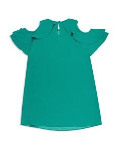 kate spade new york - Girls' Cold-Shoulder Ruffle Sleeve Dress - Big Kid