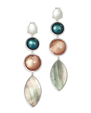 Ippolita Sterling Silver Wonderland Moroccan Dusk Mother-of-Pearl, Clear Quartz & Shell Drop Earring