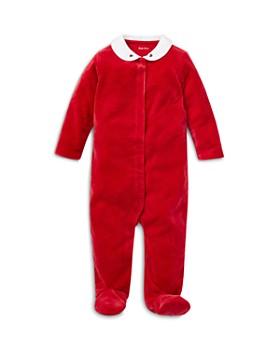 Ralph Lauren - Girls' Embroidered Velour Footie - Baby
