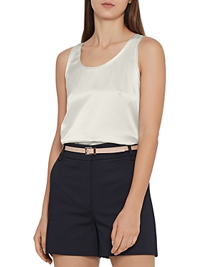 Reiss Remey Silk-Front Tank