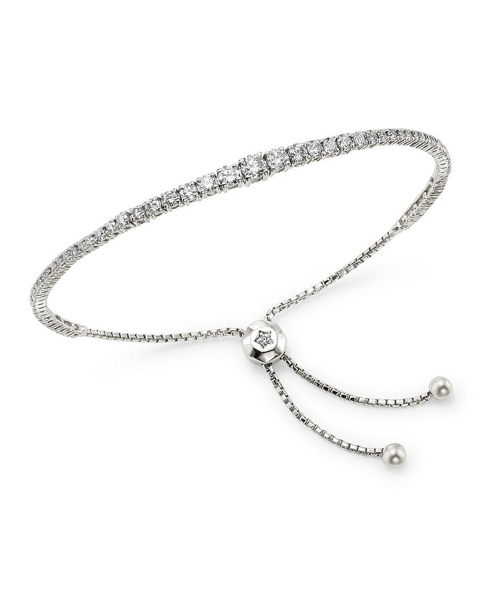 Bloomingdale's - Diamond Graduated Bolo Bracelet in 14K White Gold, 1.85 ct. t.w. - 100% Exclusive