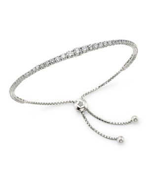 Bloomingdale's Diamond Graduated Bolo Bracelet in 14K White Gold, 1.85 ct. t.w. - 100% Exclusive