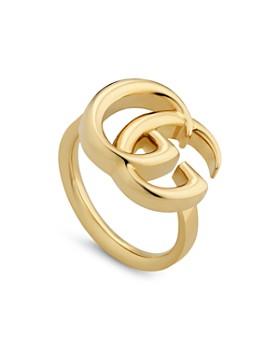 Gucci - 18K Yellow Gold GG Running Ring