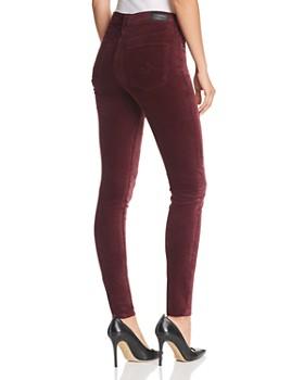 AG - Farrah Skinny Velvet Jeans in Rich Carmine
