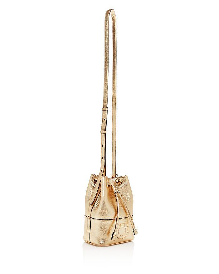 4ddceba4f82 Salvatore Ferragamo Gancio City Small Leather Bucket Bag ...